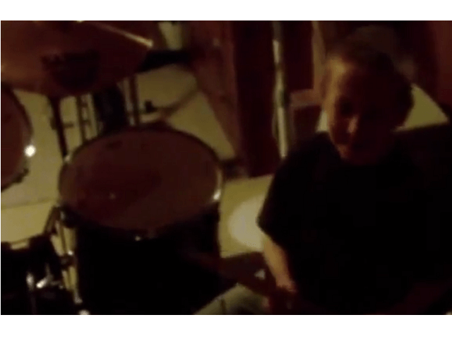 Tundra Boy Drumming At Age 7